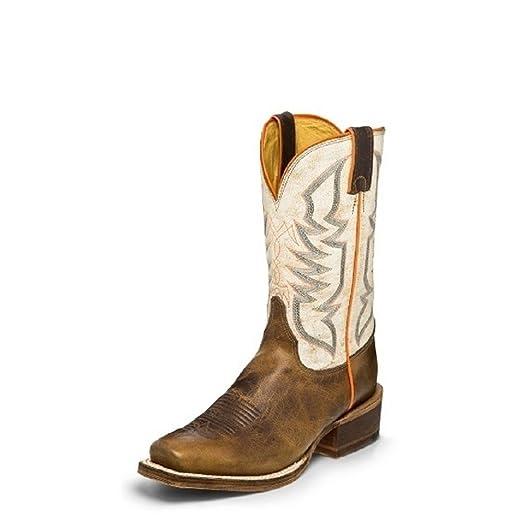 BR760 Men's Navigator Western Boots Size 10D Tan/White