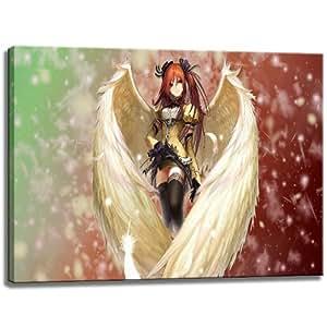 Aceite de Anime / Manga de escena sobre lienzo, Tamaño: 80x60 cm. Impresión del arte de alta calidad como un mural. Más barato que una pintura al óleo! ADVERTENCIA! NO Poster