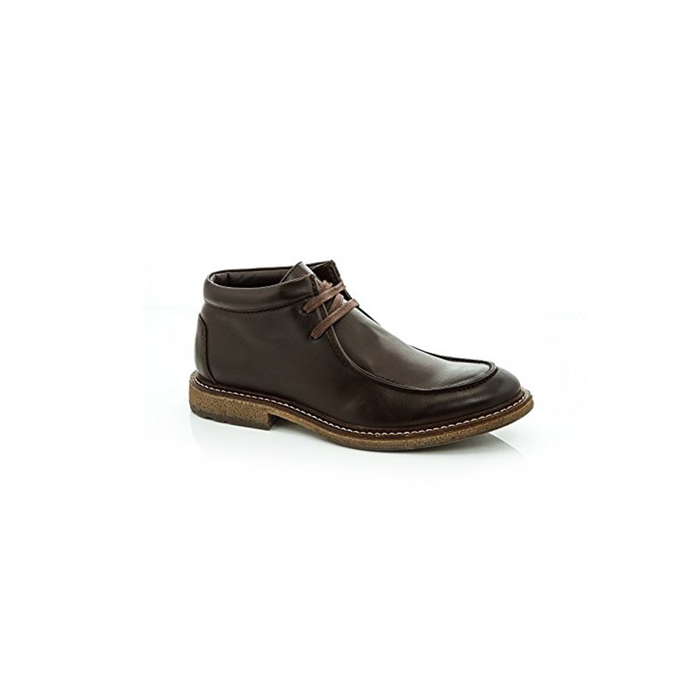 Adolfo Mens Clark-1 Block Heels Lace Up Boots Brown Size 7 by Adolfo