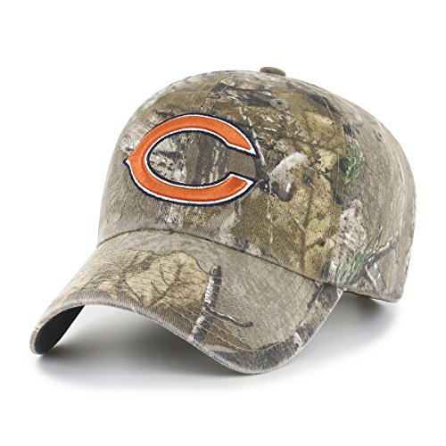 OTS NFL Chicago Bears Realtree Challenger Clean Up Adjustable Hat, Realtree Camo, One (Realtree Camo Adjustable Hat)