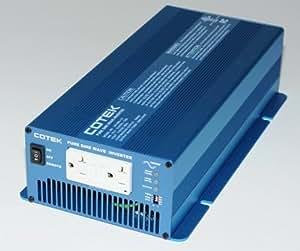 COTEK SK1000-112 1000 WATT 12 VOLT PURE SINE POWER INVERTER WITH DUAL GFCI OUTLETS