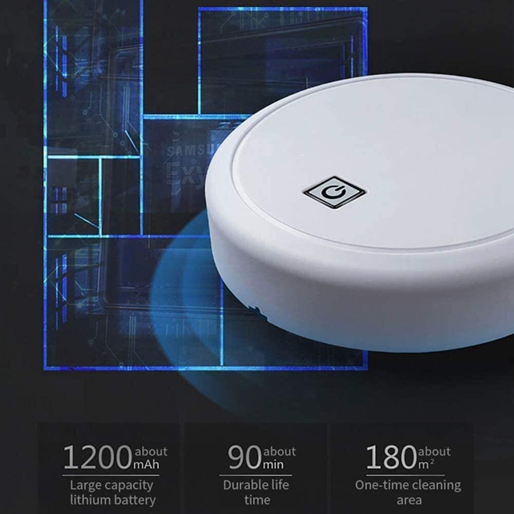 USB robotique intelligente de charge Lazy Robot, Aspirateur balayage automatique sans fil, for Tapis Nettoyage des ménages (Couleur: Noir) dsfhsfd (Color : Black) White
