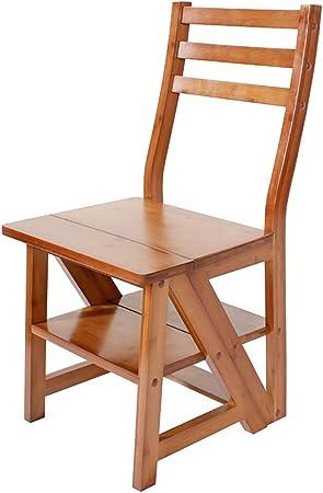 Lw yychair Silla Mecedora, Silla Multifuncional Americana Silla de Escalera Silla de Escalera Plegable de bambú Que Puede Hacer escaleras Soporte de Flores Plegable (Color : B): Amazon.es: Hogar
