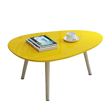 Surprising Amazon Com Wood Coffee Table Modern Oval Center Table For Theyellowbook Wood Chair Design Ideas Theyellowbookinfo