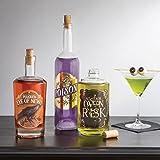 : 8 Martha Stewart Halloween Beverage Labels wine Bottle Glass Bar