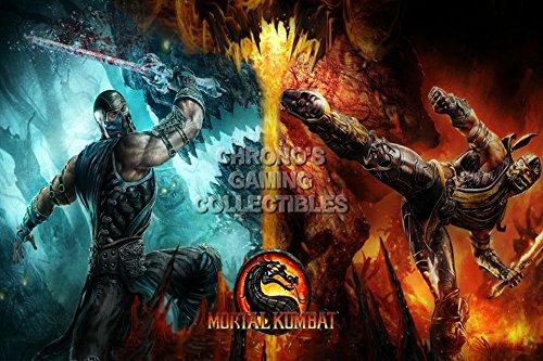 "Price comparison product image CGC Huge Poster - Mortal Kombat X Subzero VS Scorpion PS3 PS4 XBOX 360 ONE - MKX001 (24"" x 36"" (61cm x 91.5cm))"