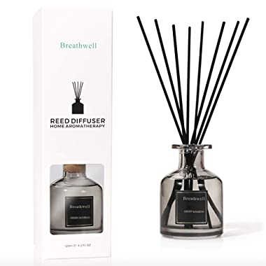 TIYOLE Reed Diffuser SticksStress Relief Aromatic Room Diffusers with Sticks Sandalwood Diffuser (Green Bamboo)