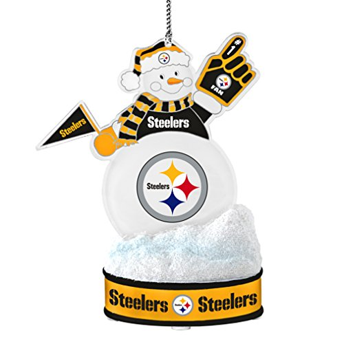 NFL Pittsburgh Steelers LED Snowman Ornament]()