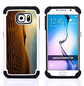 - Sun desert View - - Fulland Deluxe Hybrid TUFF Rugged Shockproof Rubber + Hard Case Cover FOR Samsung Galaxy S6 G9200 Queen Pattern