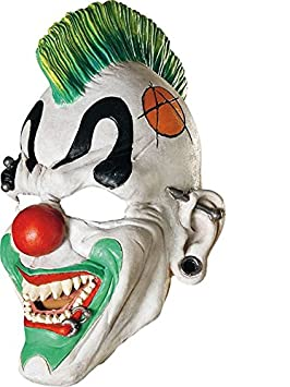 DC - Máscara de payaso punk para Halloween (adultos)
