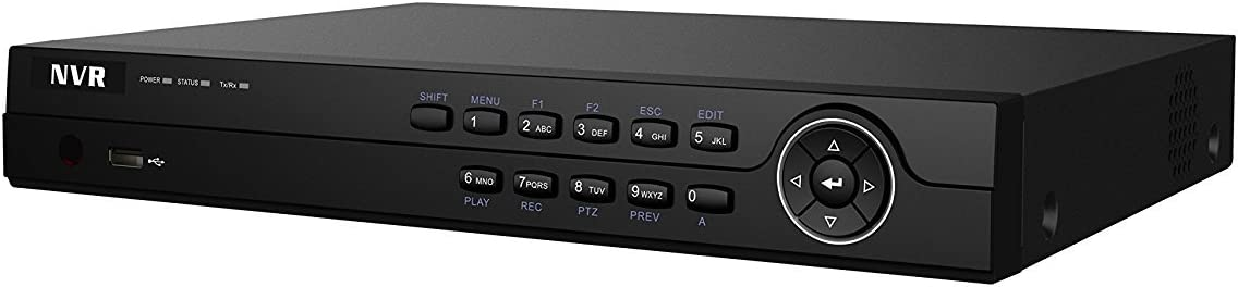 Hikvision 4 Channel 6MP IP Network NVR CCTV Recorder H.264+ NVR-104M-A None PoE HiWatch Series (4TB WD Puple HDD)