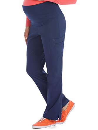 a022449f4ccbb Amazon.com: Med Couture Women's Knit Waist Maternity Scrub Pant: Clothing