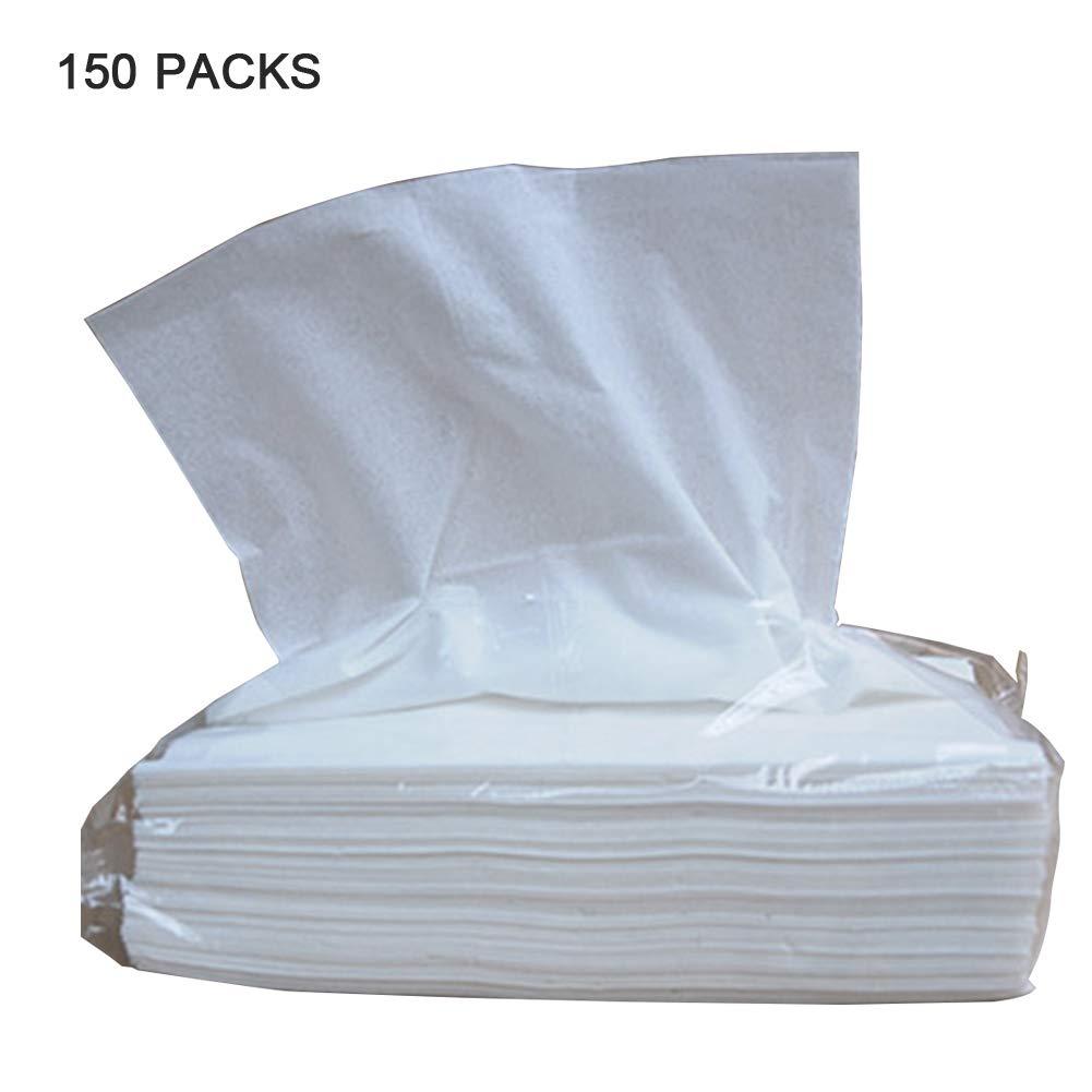 150袋 ホテル/ホーム/レストラン用の使い捨てティッシュ 柔らかい厚いナプキン ペーパータオル(100枚/袋)