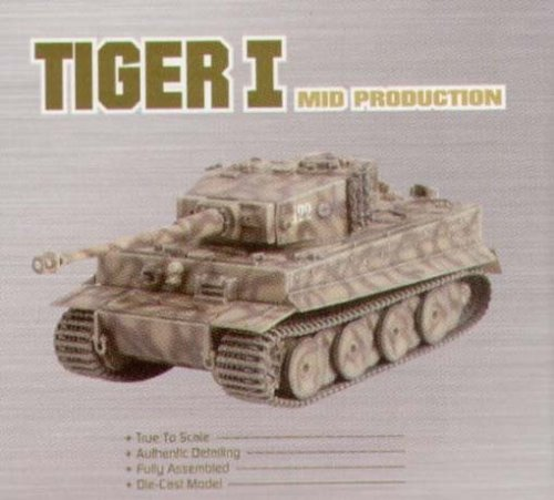 Dragon Armor - 2004 - Tiger I German Tank - Mid Production - sPzAbt 509 - 1944 - WW 2 - Die Cast - w/ Display Case - Sd.Kfz. 181 - Limited Edition - Collectible
