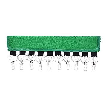 Usuny Tapón Organizador Percha 10 Gorras de Béisbol Soporte Sombreros Organizador Armario - Verde