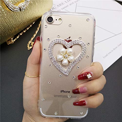LaMaDiaa Bling Diamond - Carcasa para iPhone X, 10, 4S, 5S, SE, 5C, 6, 6S, 7 y 8 (incluye parte trasera de TPU), 3, For...