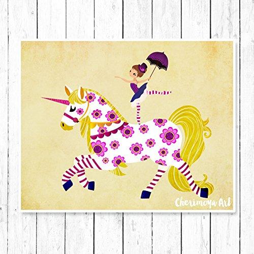 Unicorn Decor for girls rooms – Unicorn Wall Art – Archival Print