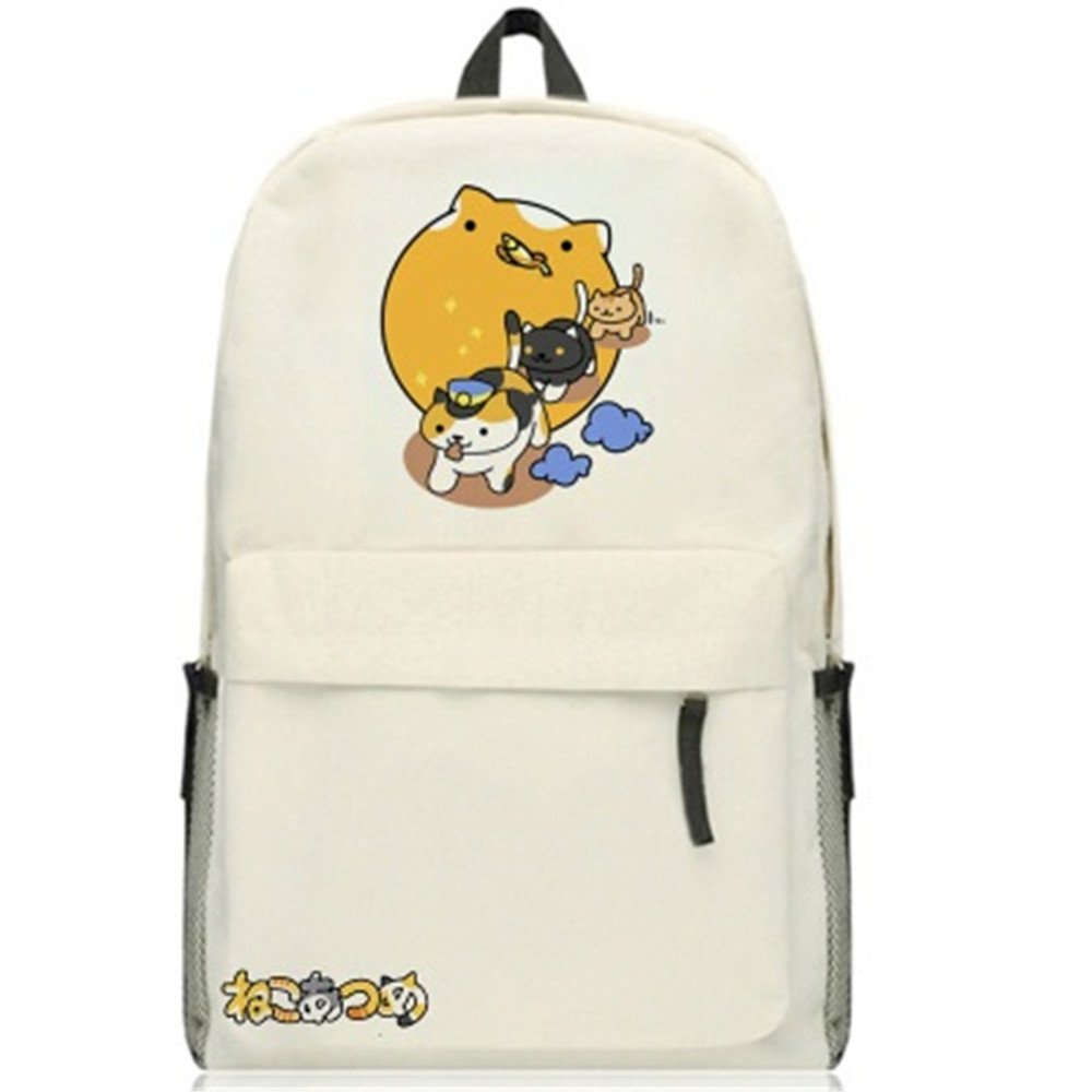 Siawasey Neko Atsumeアニメ猫裏庭コスプレブックバッグDaypack Collegeバックパックスクールバッグ   B0721Q53S3