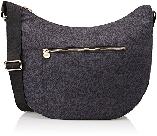 Borbonese 934757296, Women's Shoulder Bag Black (Nero)