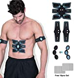 OSITO Wireless Abs Stimulator Muscle Trainer Abs Trainer for Women Men - Portable Rechargeable Abs Fitness Equipment EMS Muscle Toner for Abdomen/Arm/Leg