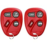 KeylessOption Keyless Entry Remote Control Car Key Fob Replacement for 25678792-Red (Pack of 2)