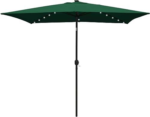 ABCCANOPY Rectangular Patio Umbrella Solar Powered Outdoor Umbrellas Market Table Umbrella