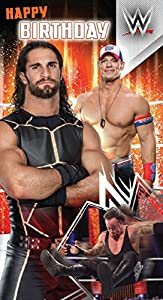 Amazon wwe happy birthday card office products wwe happy birthday card bookmarktalkfo Image collections