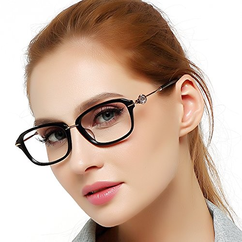 Eyeglasses With Clear Lenses OCCI CHIARI Fashion Aloi Acetate Frame (Red/blue, 54)