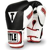 TITLE Boxing  TITLE Gel World Bag Gloves, Black, X-Large