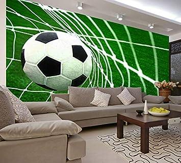 Wxlsl Foto 3d Tapete Fussball Ziel Szene Tapete Kinderzimmer