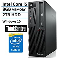 Lenovo IBM M90P Small form factor Business Desktop Computer (Intel Dual Core i5 Up to 3.46GHz Processor) 8GB DDR3 RAM, 2TB HDD, DVD, Windows 10 Home (Certified Refurbished)