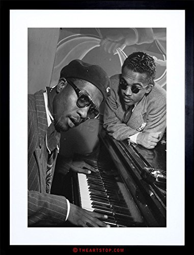 The Art Stop Music Vintage Photo Jazz Legend Thelonious Monk Piano Framed Print F97X7596 (Pictures Vintage Music)