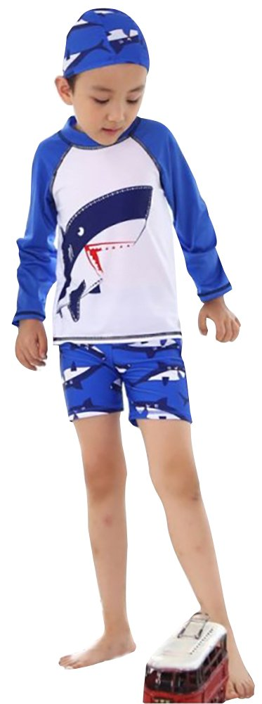 ilishop Kid Boy's UV Sun Protection Crew Rashguard Rash Guards