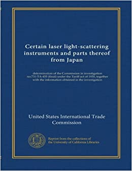 Certain laser light-scattering instruments and parts thereof from