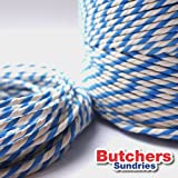 10 Meters of Twine RAYON Light Blue/White Craft - Bakers - Butchers - String - Twine