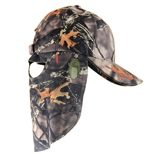 Matthews Lost Camouflage Cap  Camo Hunting Hat With Rear Model Face Mask Technology  61 Cm Adjustable