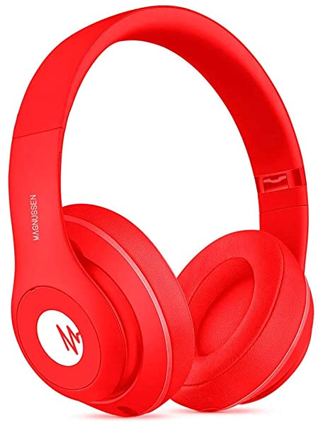 Magnussen Audio H1 Auricular Bluetooth 4.1 Plegable/Ajustable Color Rojo Mate: Amazon.es: Electrónica