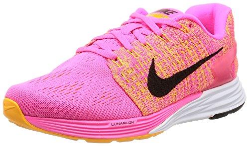 Nike Damen Wmns Lunarglide 7 Laufschuhe Rosa (Pink Blast / Black-Lsr Orng-Wht)