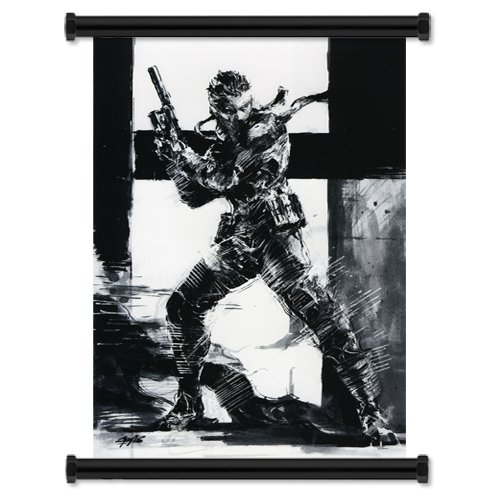 Metal Gear Solid Game Fabric Wall Scroll Poster  Inches