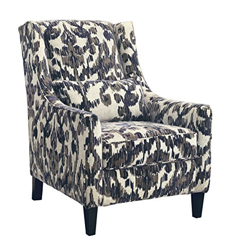 nature Design - Owensbe Accents Side Chair - Contemporary Style Accent Chair - Charcoal ()