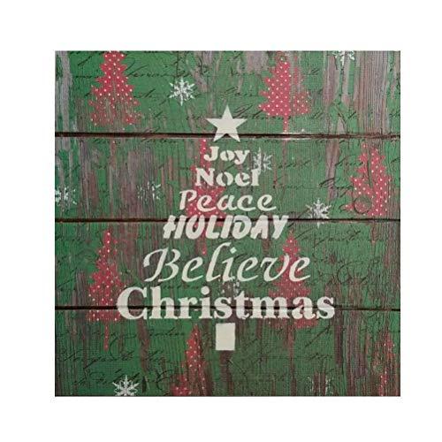 Peace Christmas Sign.Amazon Com Joy Noel Peace Holiday Believe Christmas Tree