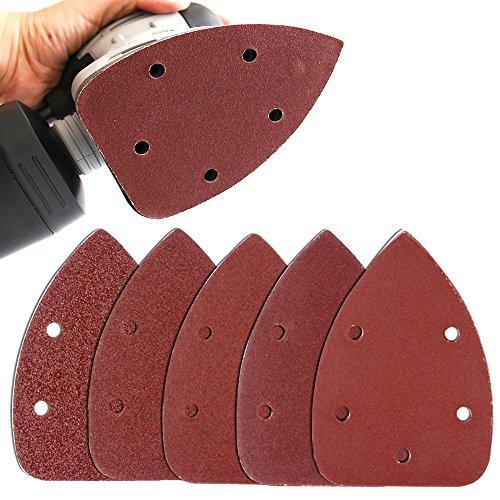 Coceca Mouse Detail Sander Sandpaper Sanding Paper Assorted 40 80 120 180 240 Grits (50PCS Mouse Sandpaper) (Sanding Ryobi Sheets)