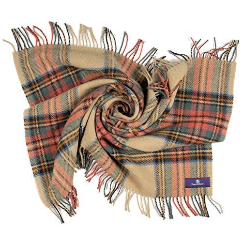 100 Soft Wool - Prince of Scots Highland Tartan Tweed 100% Pure New Wool Lap/Shoulder Throw (Antique Dress Stewart)