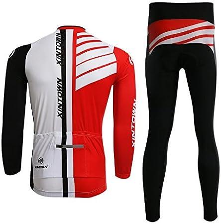 Pantalons Printemps//Automne//Hiver Cyclisme V/êtements pour Sports de Plein Air SKYSPER Maillot de Cyclisme Homme avec 3D Gel Rembourr/é Respirant S/échage Rapide Set Maillot de Manches Longues