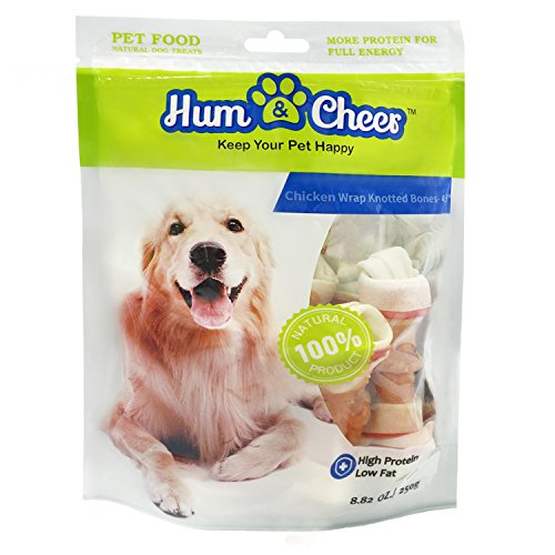 Hum & Cheer Daily Dental Bones Chicken Wrapped Rawhide Dog Treats Chews