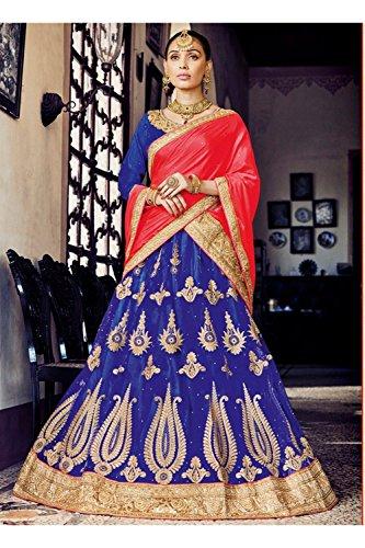 IWS Indian Women Designer Wedding blue Lehenga Choli K-4640-40752