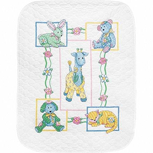 Dimensions Needlecrafts Stamped Cross Stitch, Baby's Friends (Friends Quilt Kit)