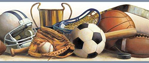 Chesapeake BBC94113B Hansel Classic Sports Portrait Wallpaper Border, Brown ()