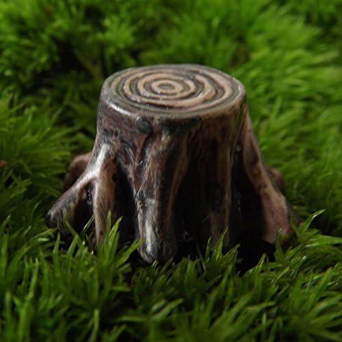 SU@DA Harz Mikro-Stakes kreatives Handwerk Schmuck kleiner Baum Landschaft Zubehör 2ST