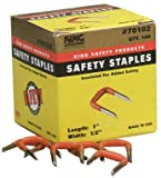 King Safety Products 70102 1/2'' Orange Insulating Safety Staples 100 Count